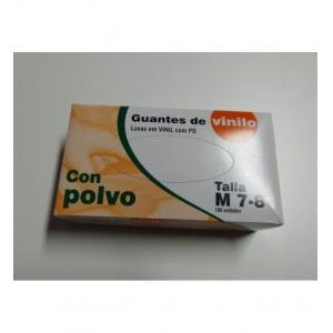 CAJA DE GUANTES DE VINILO CON POLVO